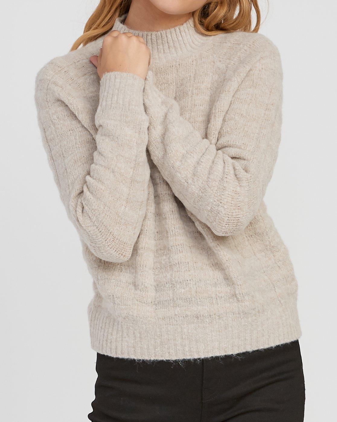 3 Mystars Knit Sweater Brown WV08SRMY RVCA