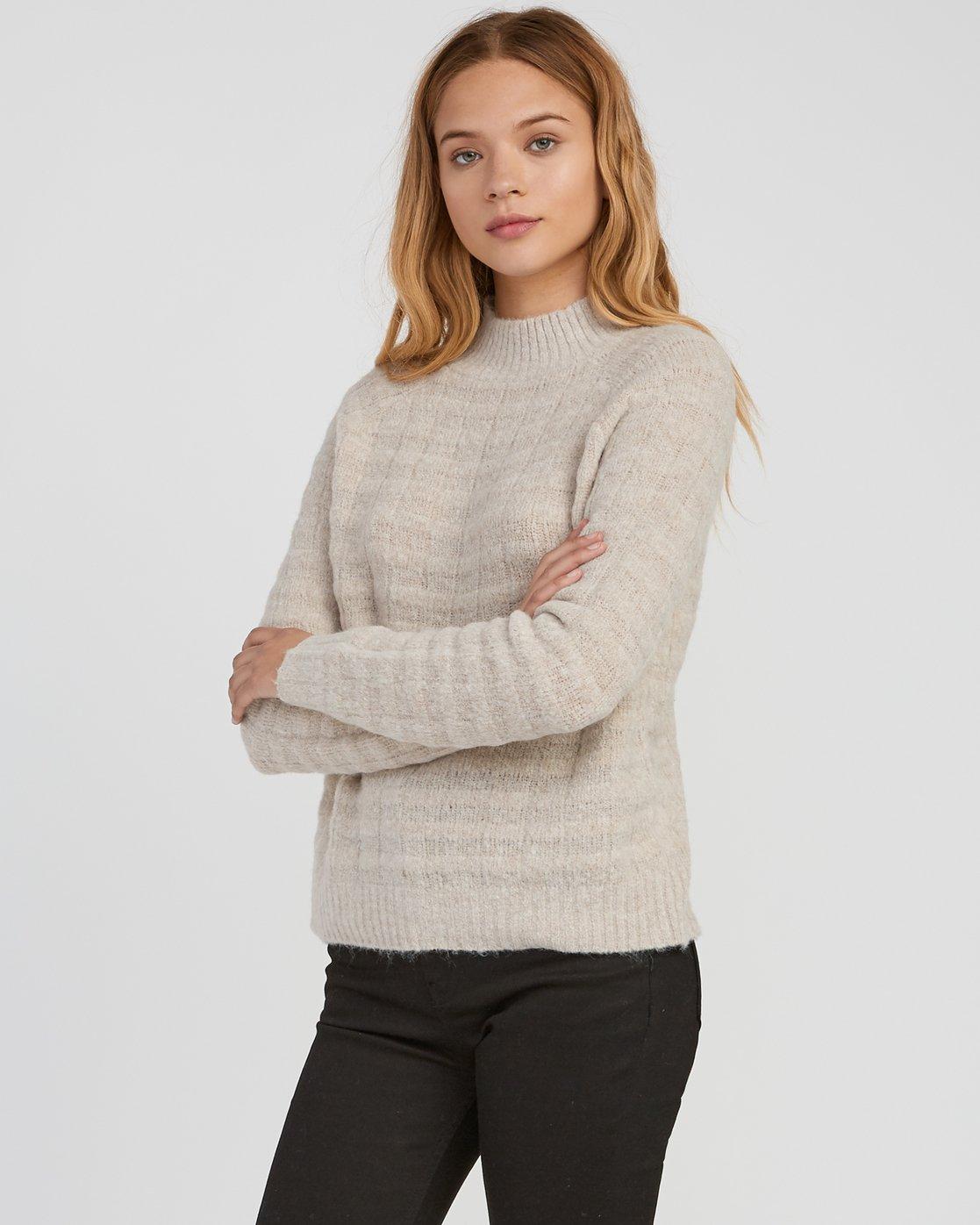1 Mystars Knit Sweater Brown WV08SRMY RVCA