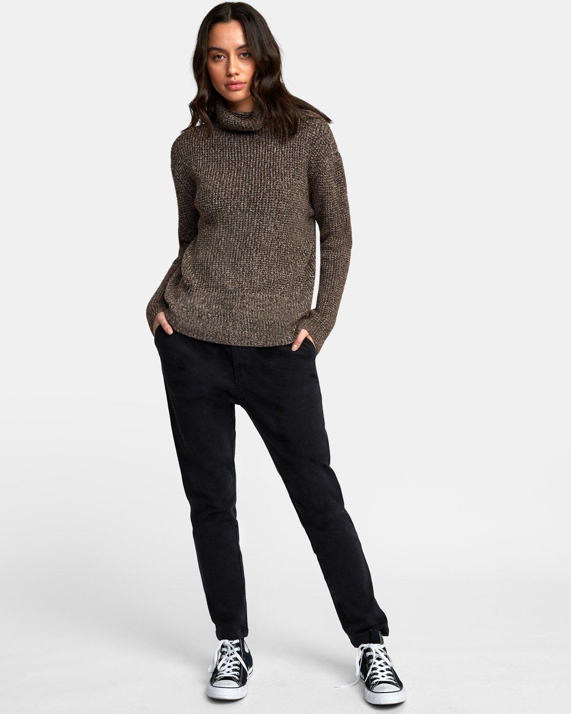 4 Roll It Knit Sweater Brown WV08WRRO RVCA