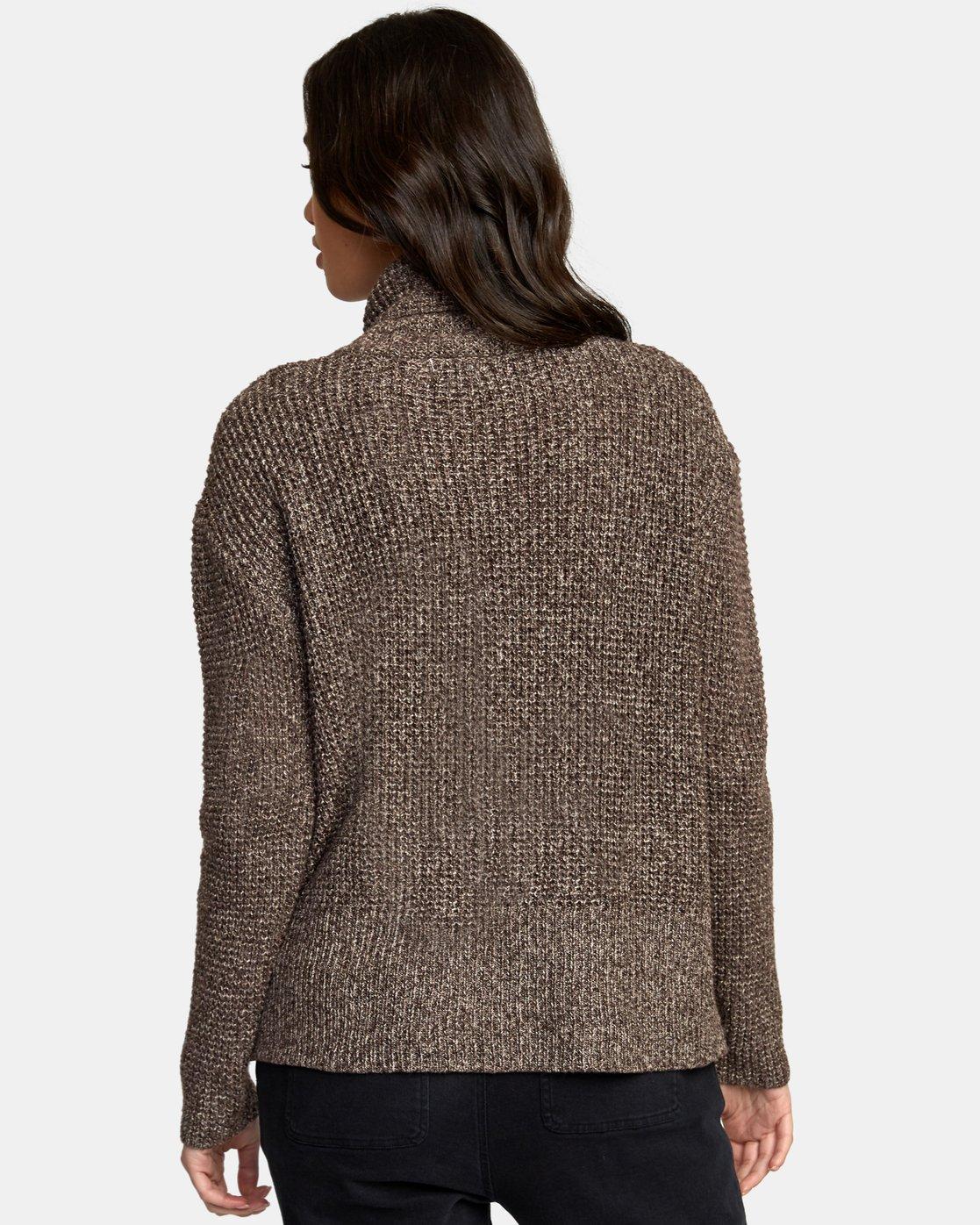 2 Roll It Knit Sweater Brown WV08WRRO RVCA