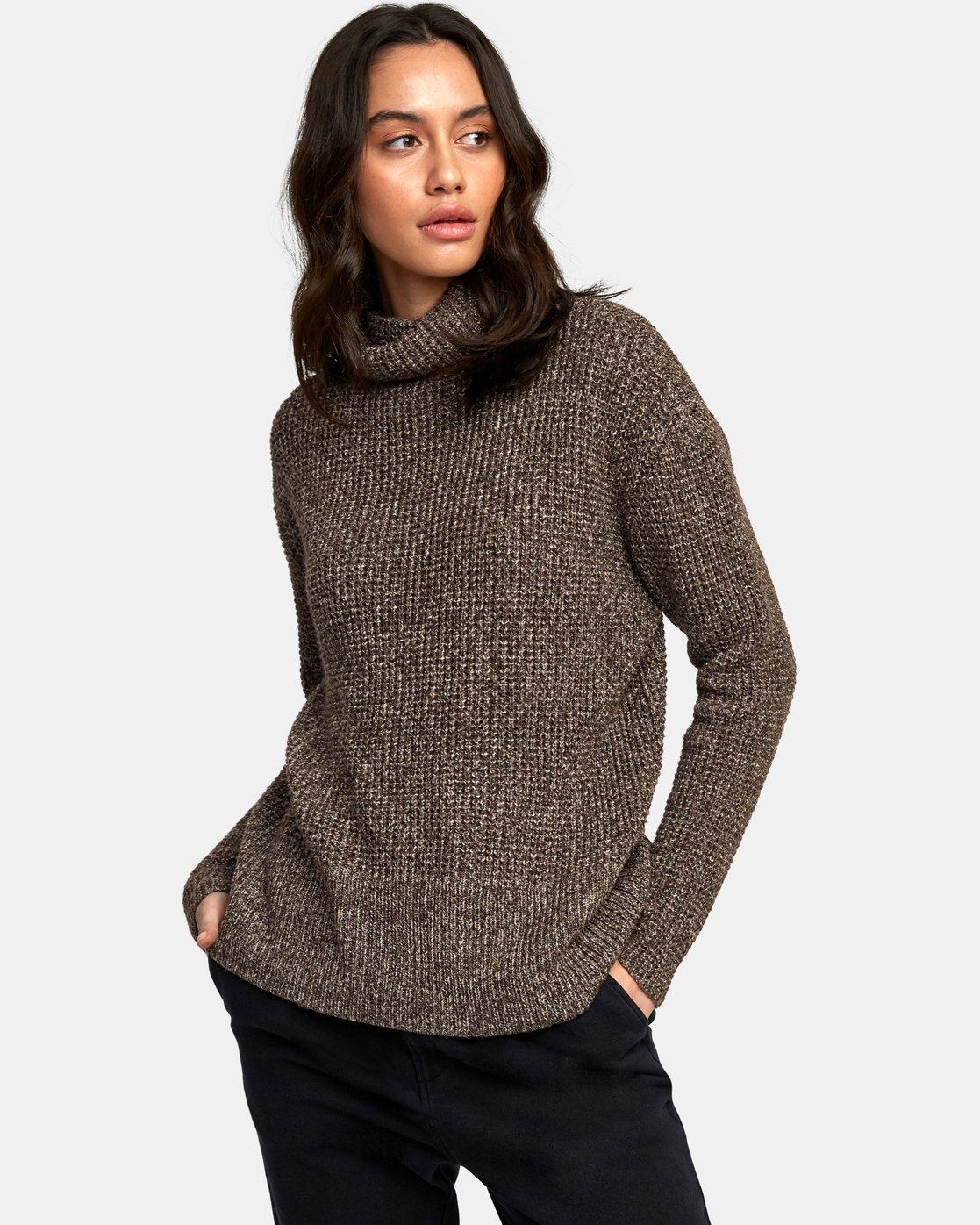 0 Roll It Knit Sweater Brown WV08WRRO RVCA