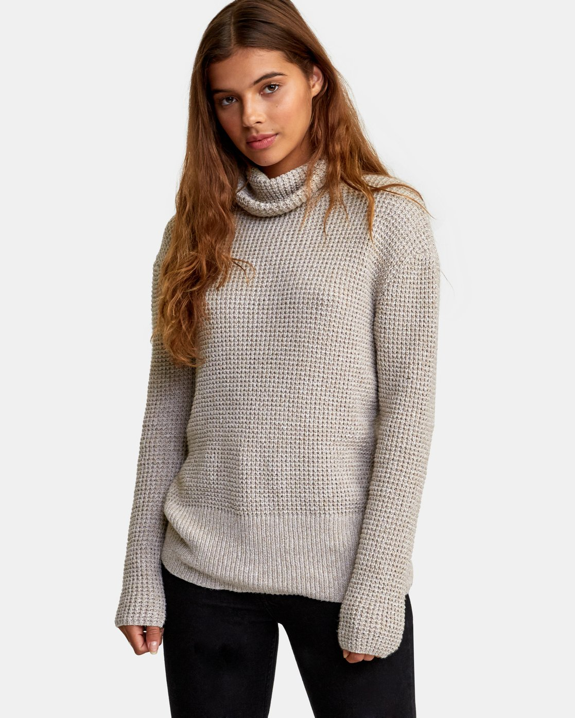 0 Roll It Knit Sweater Beige WV08WRRO RVCA