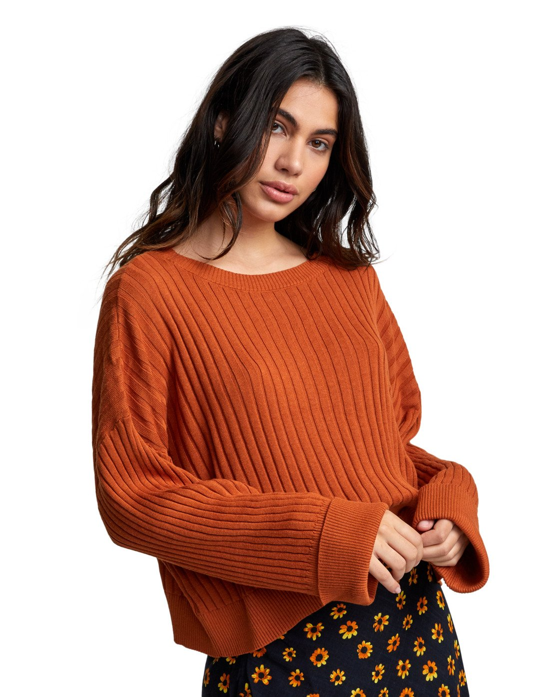 3 SYDNEY SWEATER Orange WV093RSY RVCA