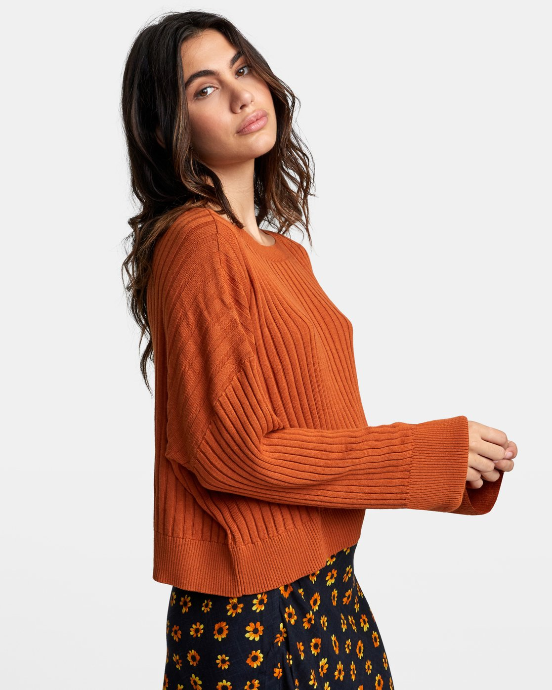 2 SYDNEY SWEATER Orange WV093RSY RVCA