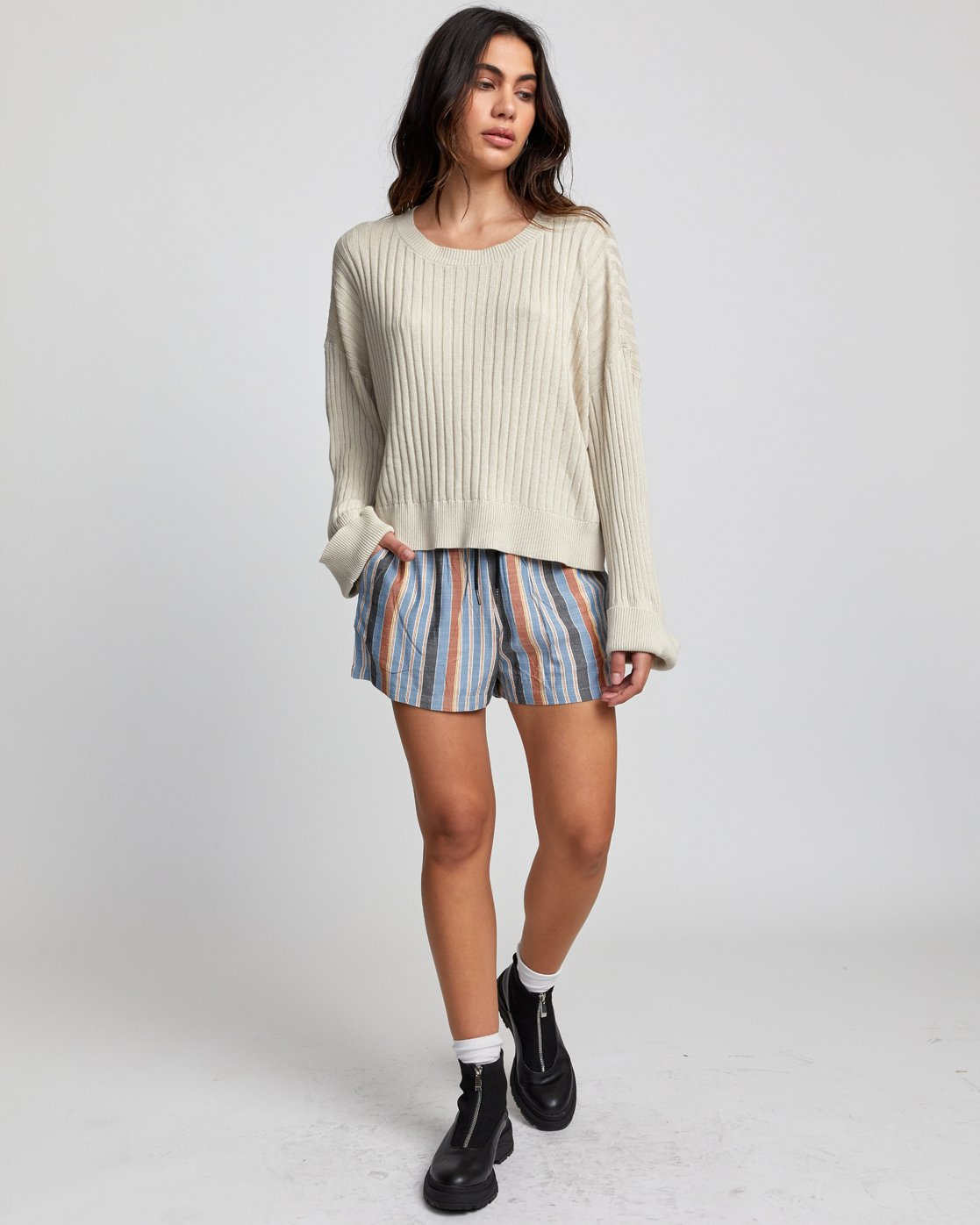 1 SYDNEY SWEATER Brown WV093RSY RVCA