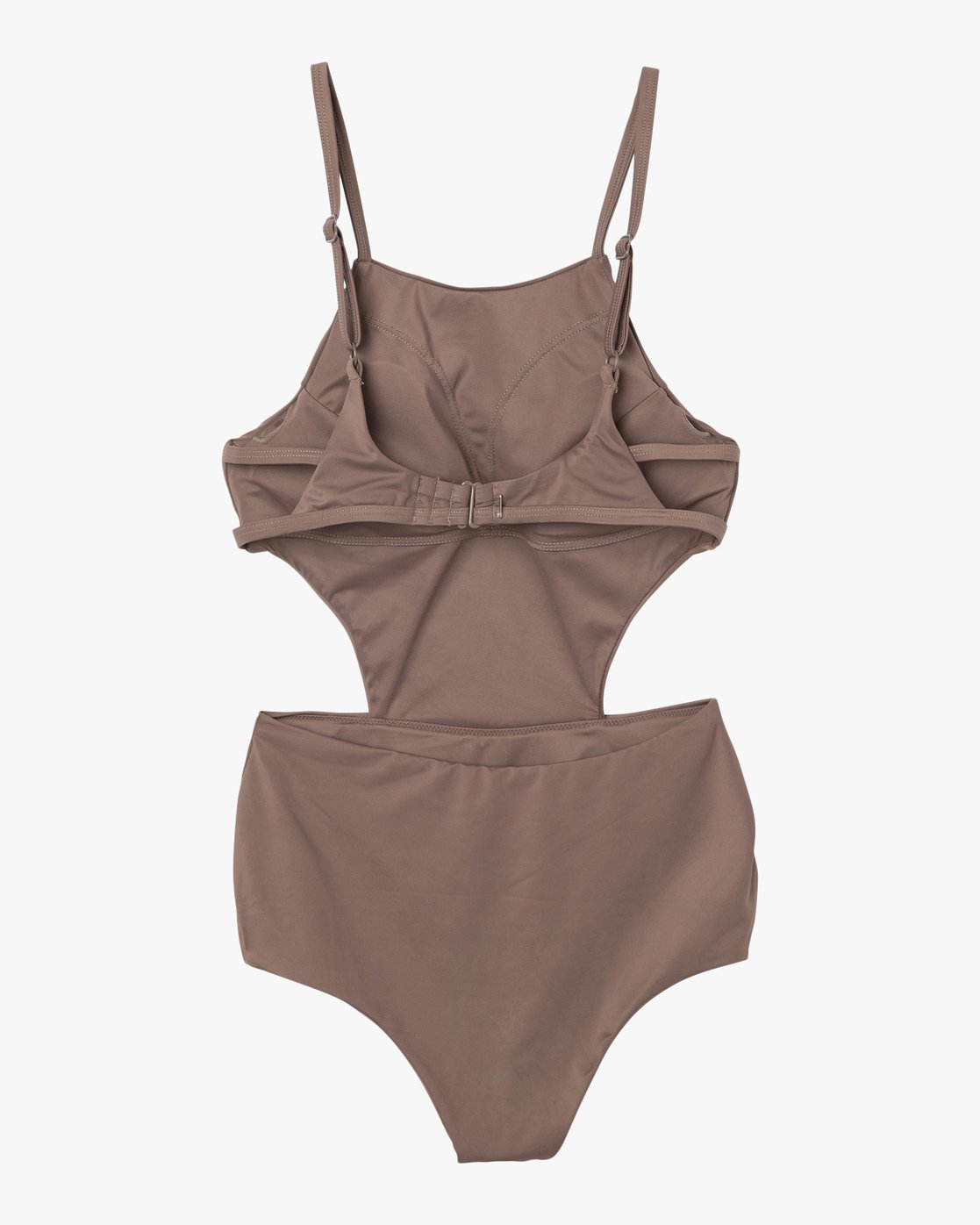 6 Solid One Piece Swimsuit Brown X101NRSO RVCA