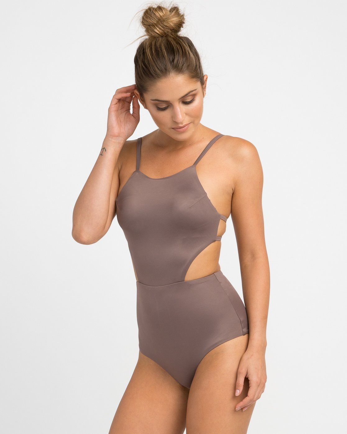 1 Solid One Piece Swimsuit Brown X101NRSO RVCA