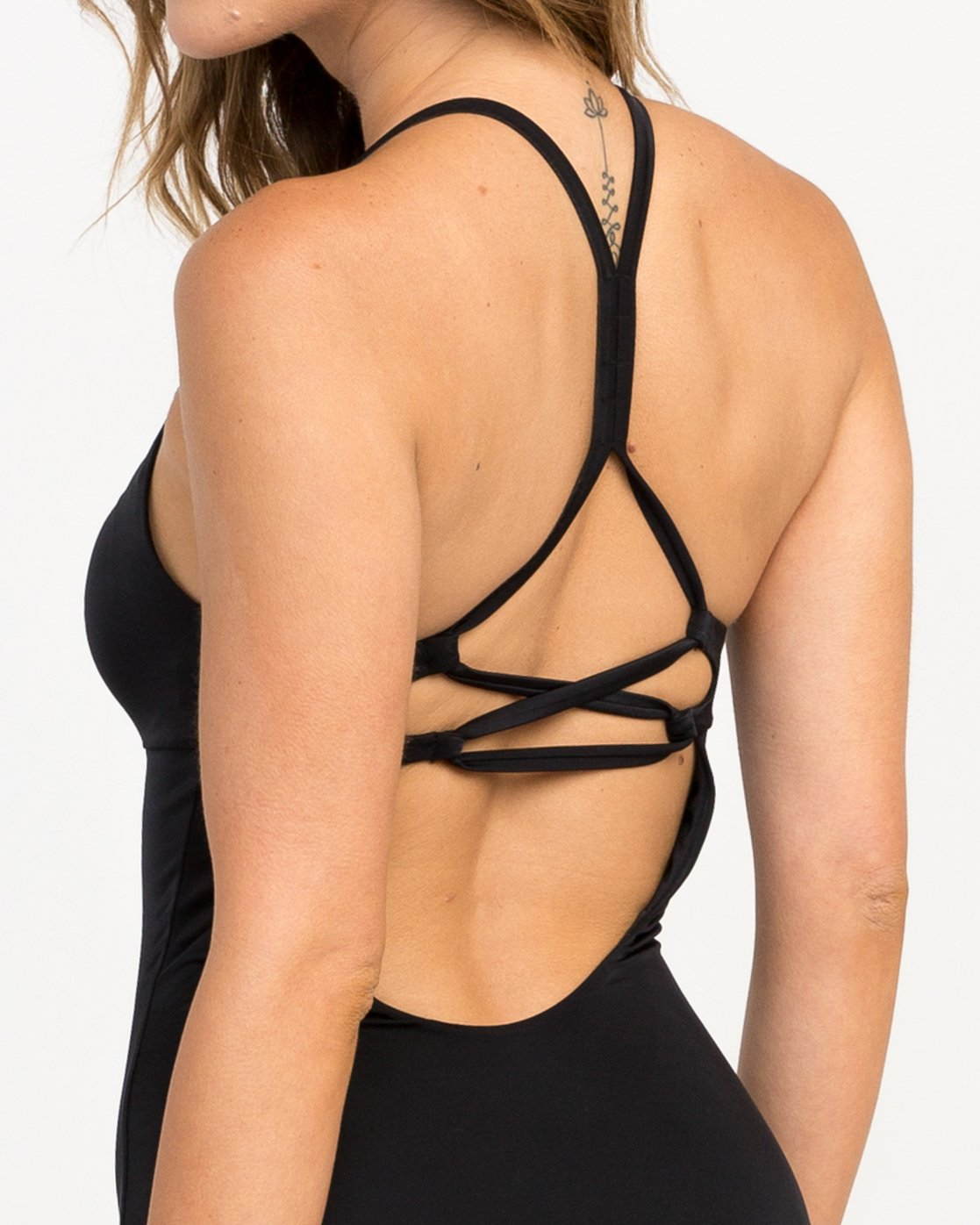 3 Solid Strappy One Piece Swimsuit Black X101PRSO RVCA