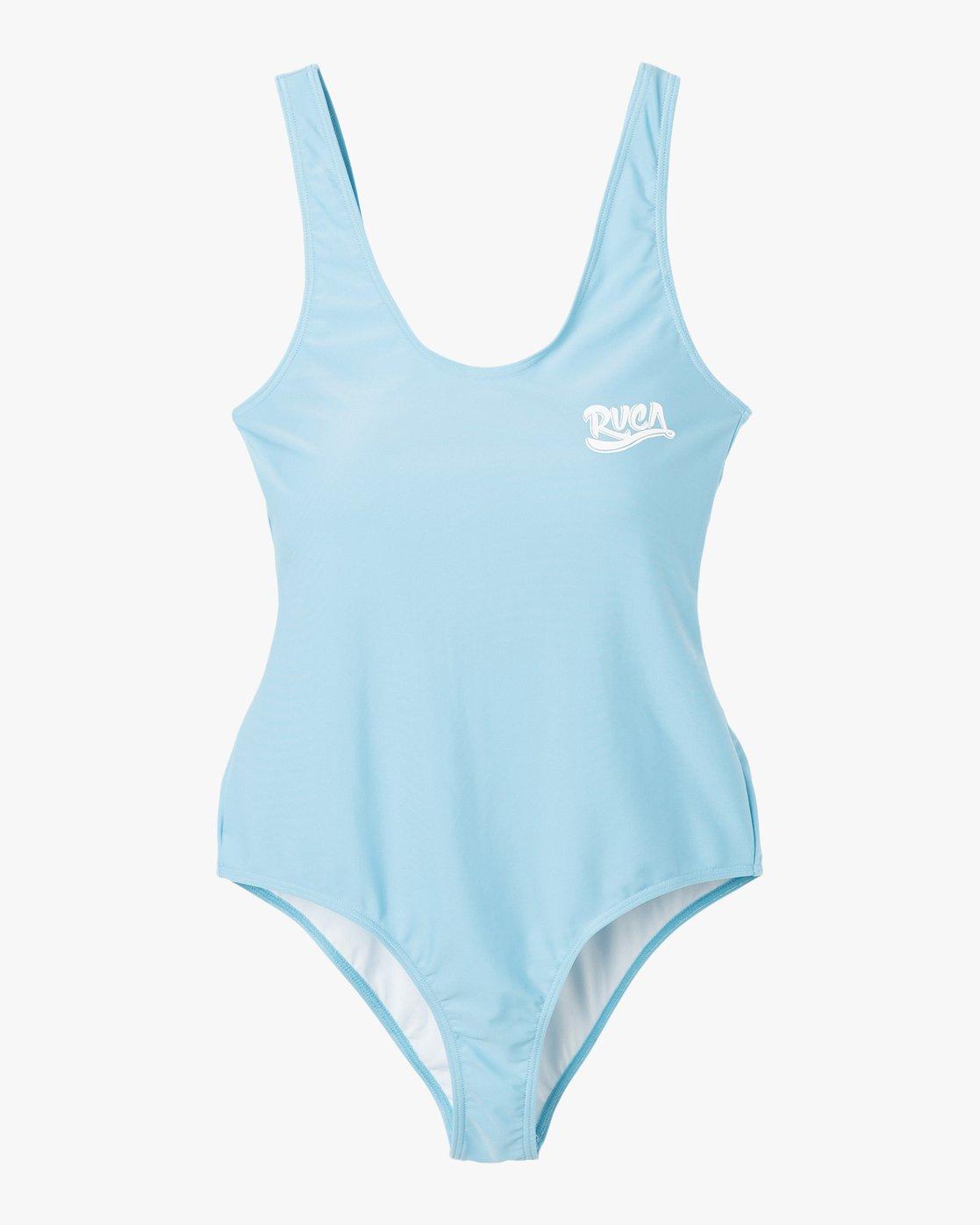 4 Shark One Piece Swimsuit Blue X102PRSO RVCA