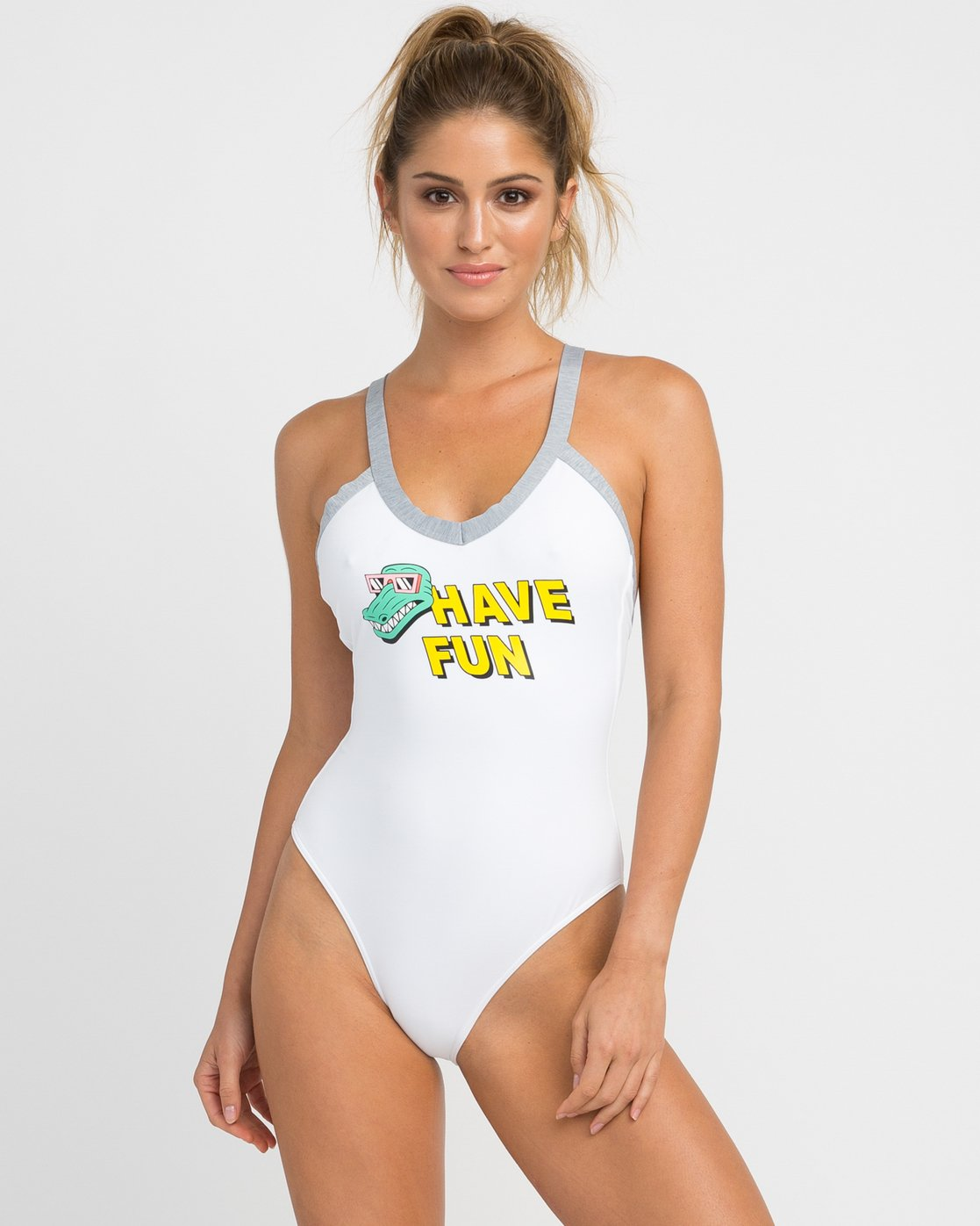 0 Real Talk One Piece Swimsuit White X103NRPO RVCA