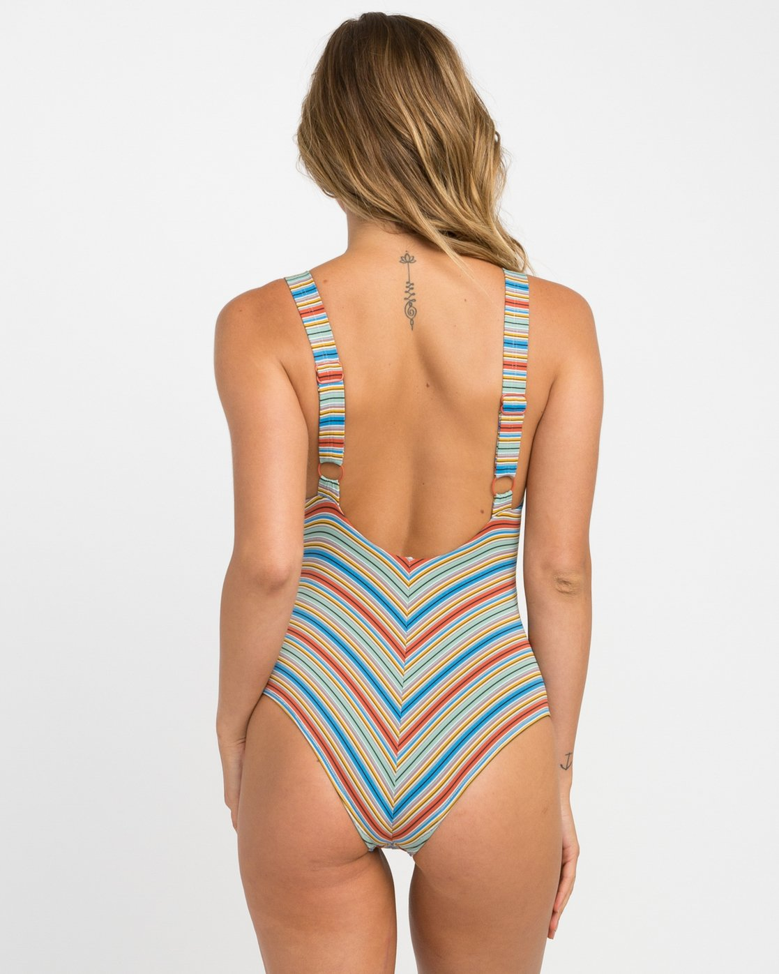 2 Sixteenth St Striped One Piece Swimsuit Multicolor X104NRSO RVCA
