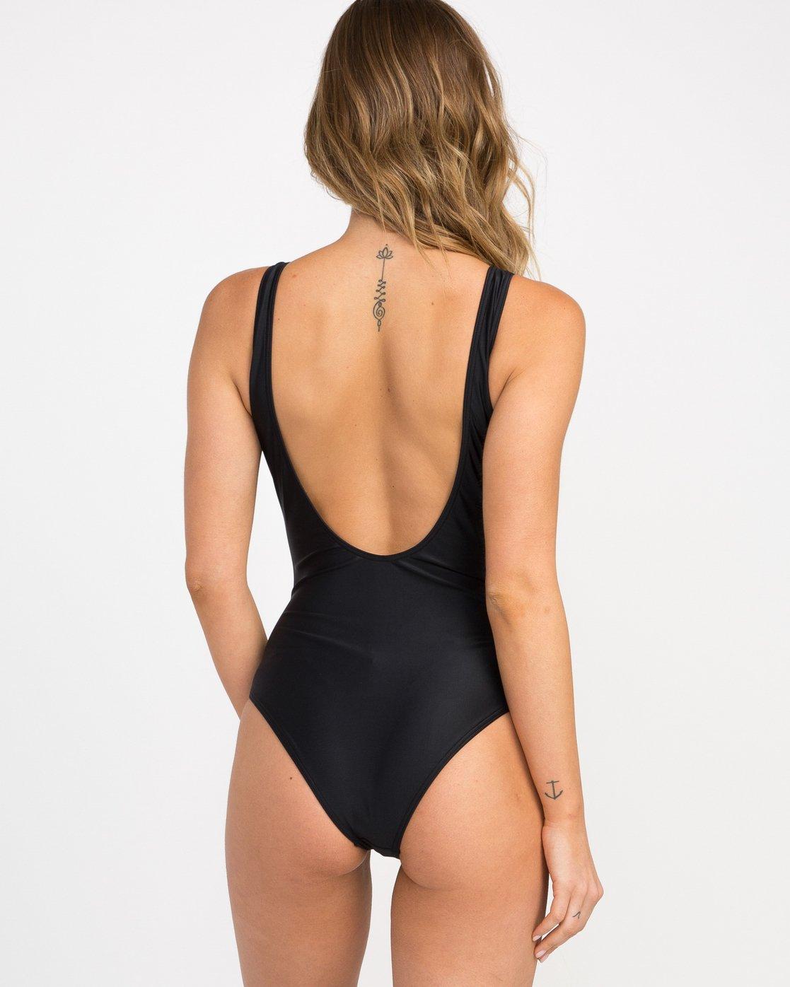 3 RVCA One Piece Swimsuit Black X105NRSO RVCA