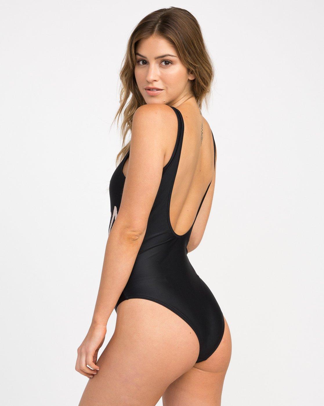 2 RVCA One Piece Swimsuit Black X105NRSO RVCA