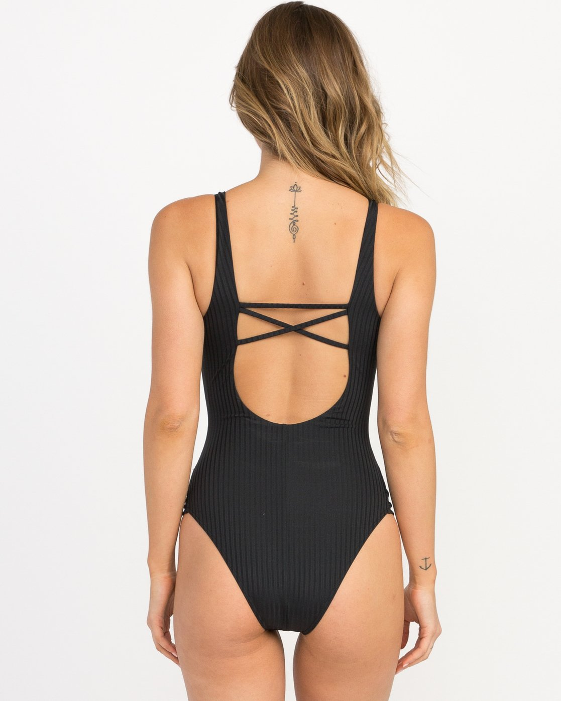 3 Rockaway Ribbed One Piece Swimsuit  X109QRRO RVCA