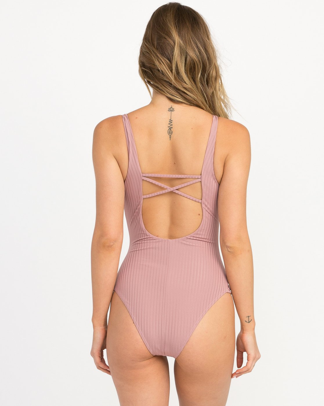 2 Rockaway Ribbed One Piece Swimsuit Pink X109QRRO RVCA