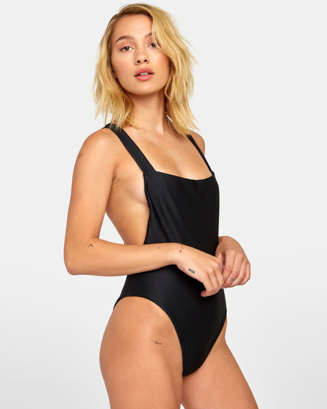 2 BODEGA ONE PIECE SWIMSUIT Black X1141RBO RVCA