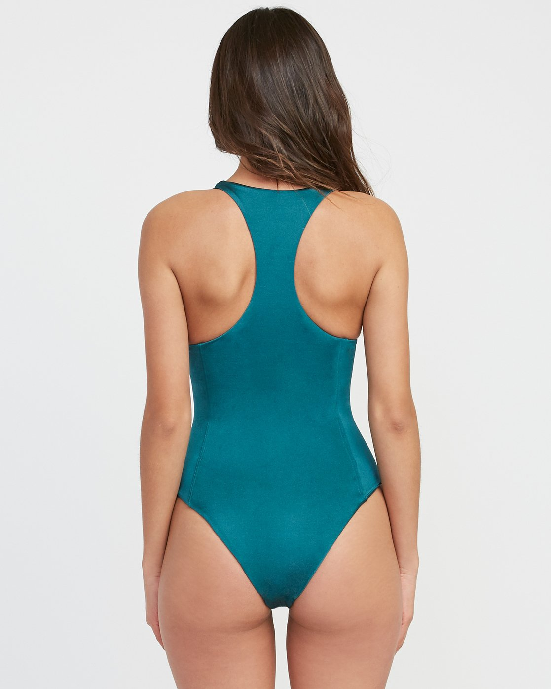 2 Solid Shimmer Lace-Up One Piece Swimsuit Multicolor X126SRSO RVCA