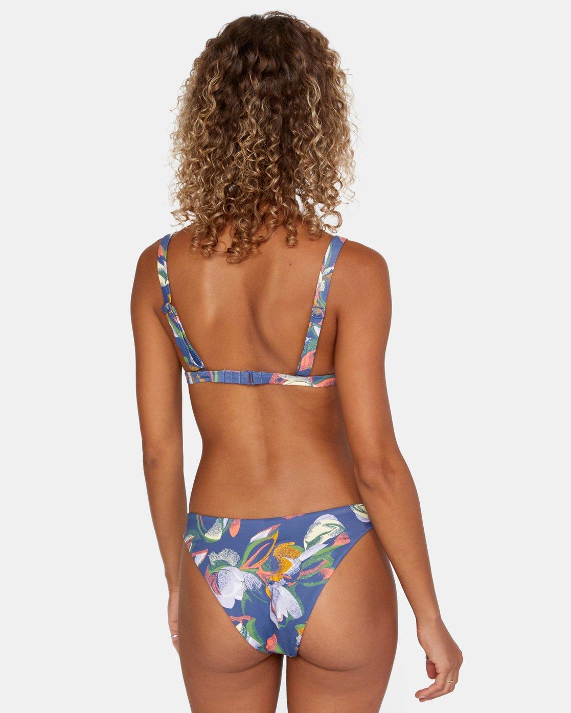 1 Pixie Hi-Tri - Recycled Bikini Top for Women Blue X3STRPRVS1 RVCA