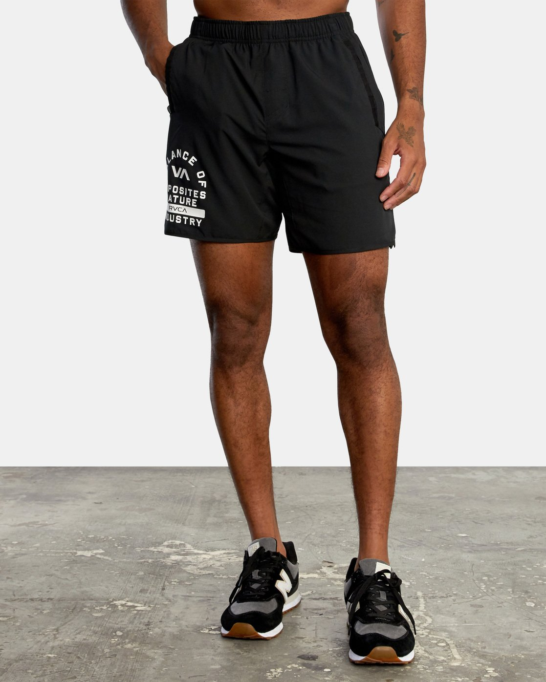 0 VA Sport Yogger - Recycled Performance Training Shorts for Men Black X4WKMARVS1 RVCA