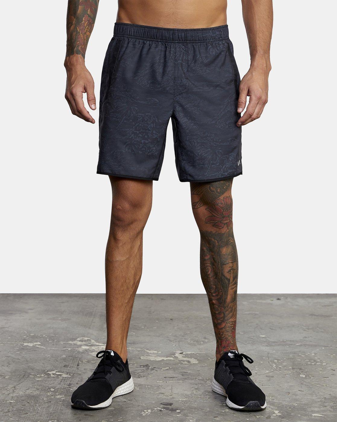 1 VA Sport Yogger - Recycled Performance Training Shorts for Men Green X4WKMARVS1 RVCA