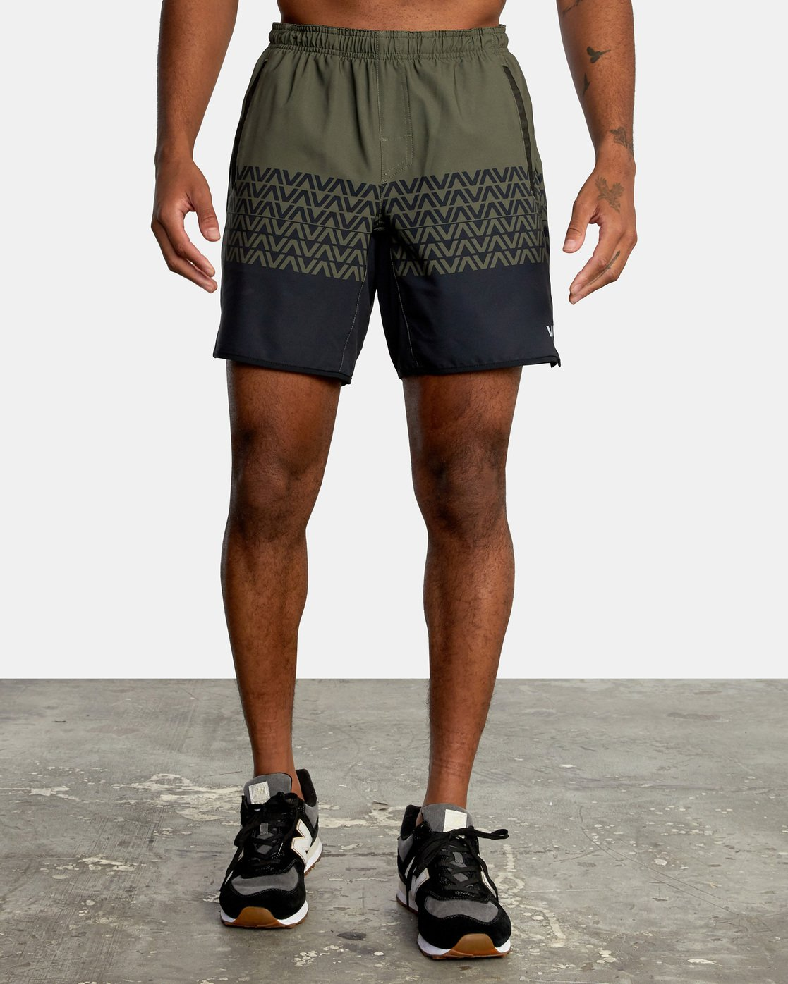 0 VA Sport Yogger Stretch - Recycled Performance Training Shorts for Men Green X4WKMBRVS1 RVCA