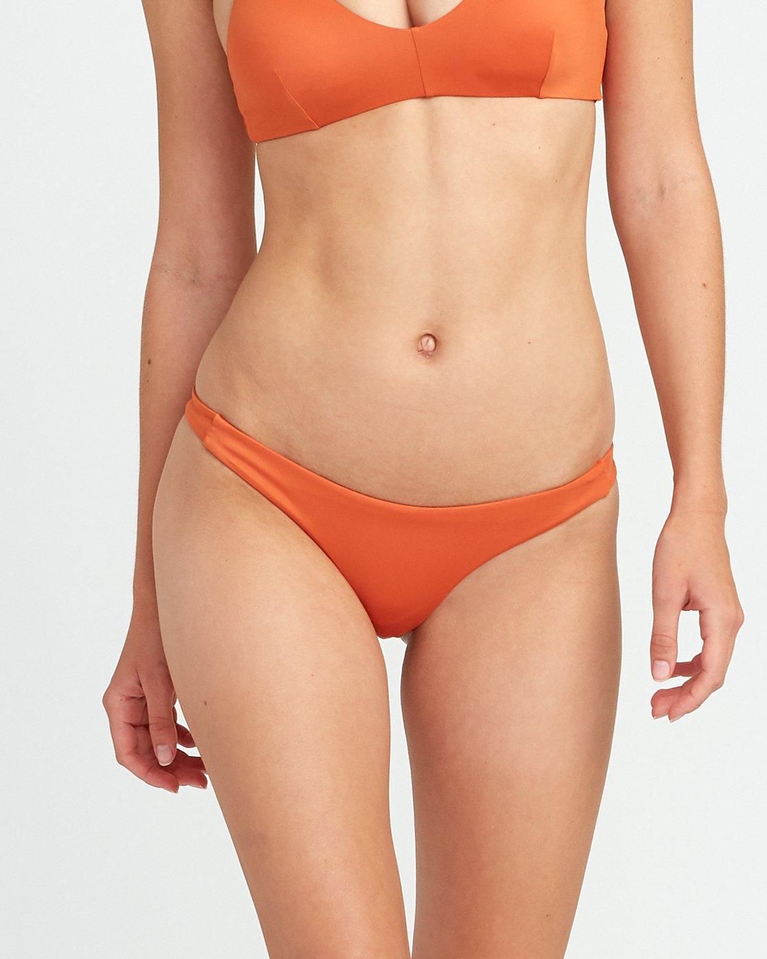 3 Solid Skimpy Bikini Bottom Yellow XB01TRSS RVCA