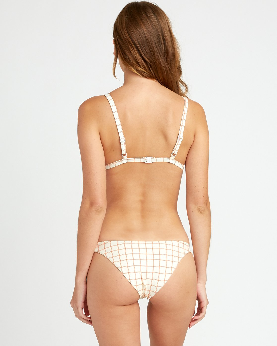 0 KLW Grid Medium Bikini Bottoms White XB03URKM RVCA