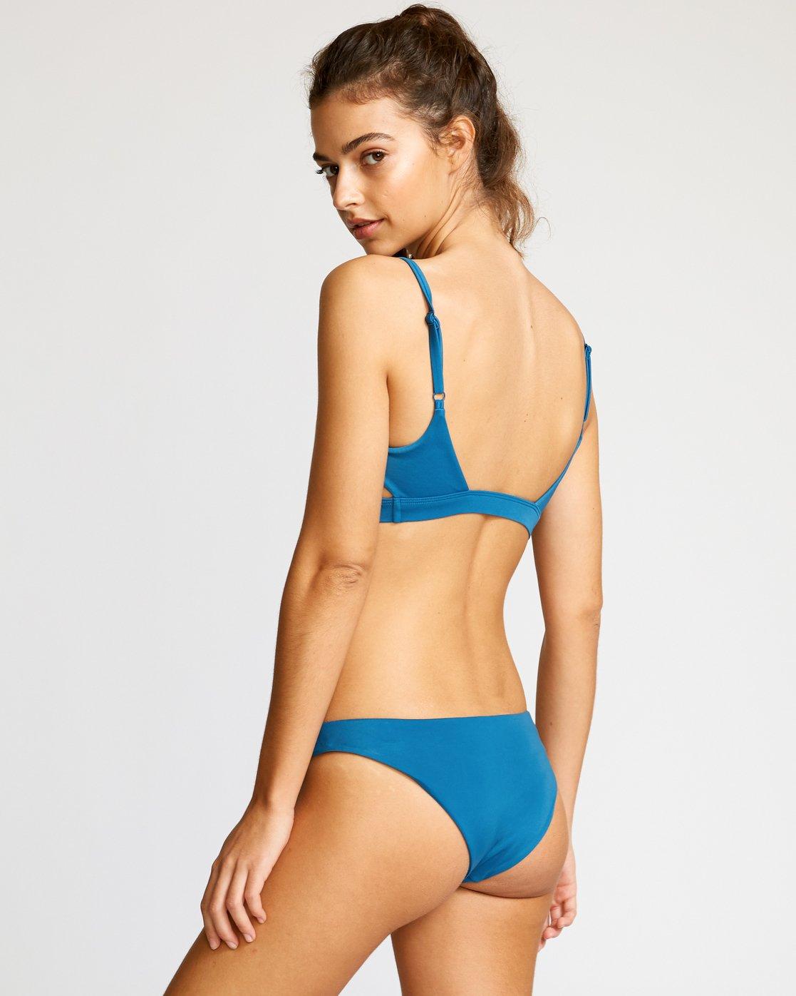 1 Solid Tab Medium Bikini Bottoms Blue XB03VRSM RVCA