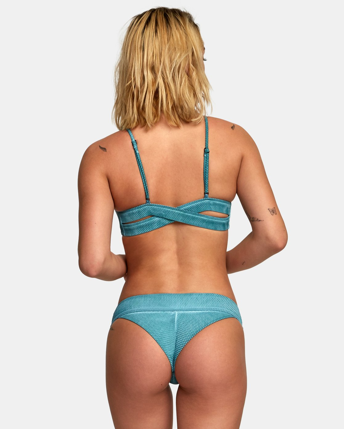 1 Stone Textured Cheeky Bikini Bottoms Green XB04WRSC RVCA
