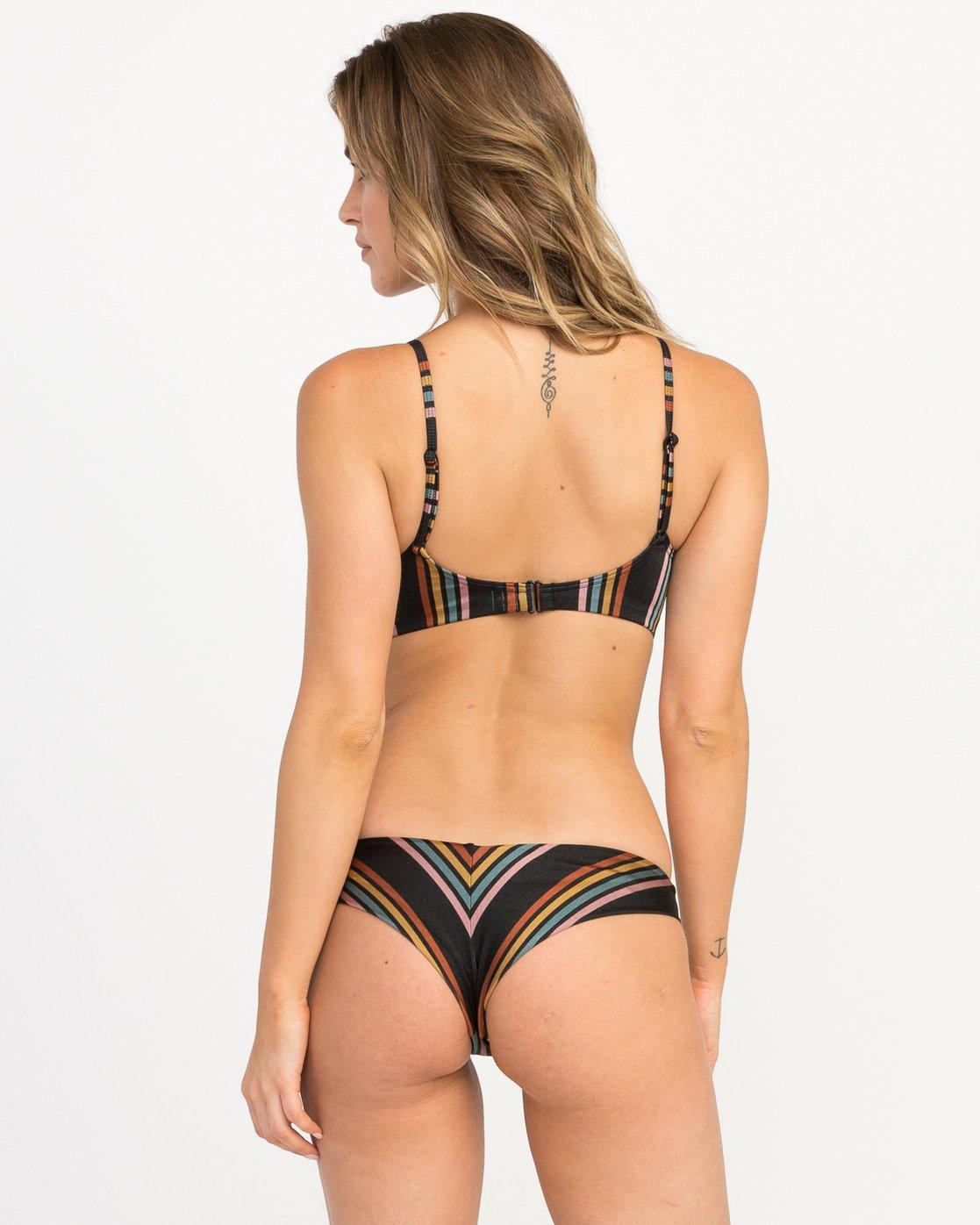 0 Side Line Striped Cheeky Bottoms Black XB06QRSC RVCA