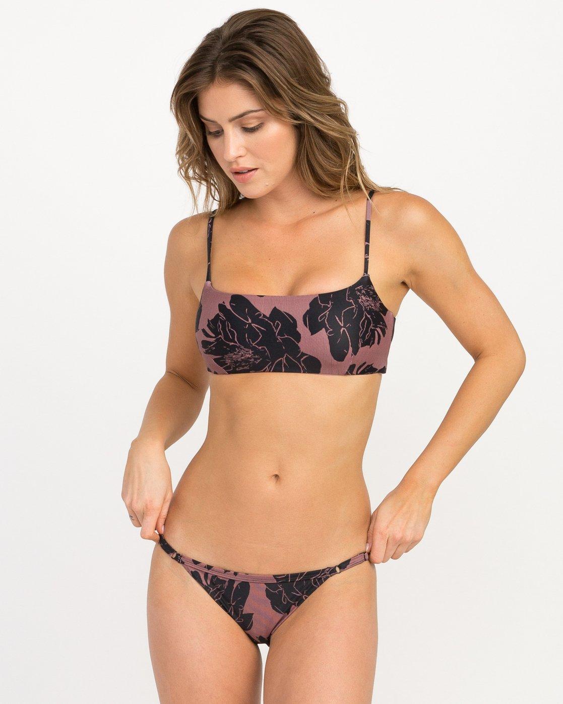 2 Peony Floral Medium Bikini Bottoms Pink XB13QRPM RVCA