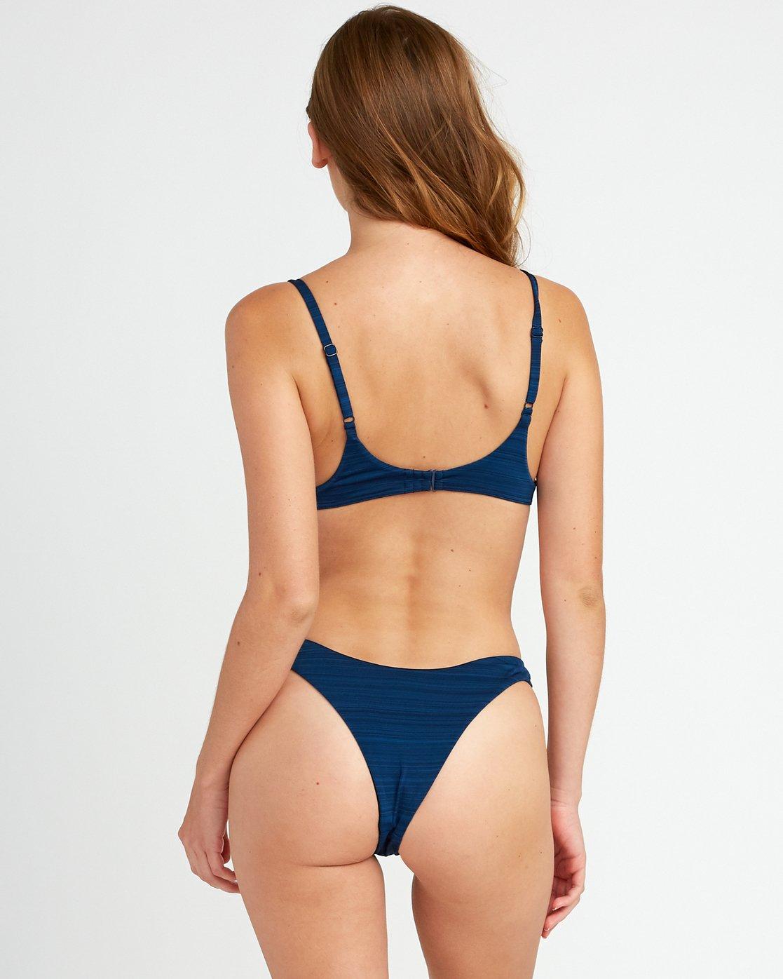 0 Rowan Skimpy Bikini Bottoms Blue XB16URRS RVCA