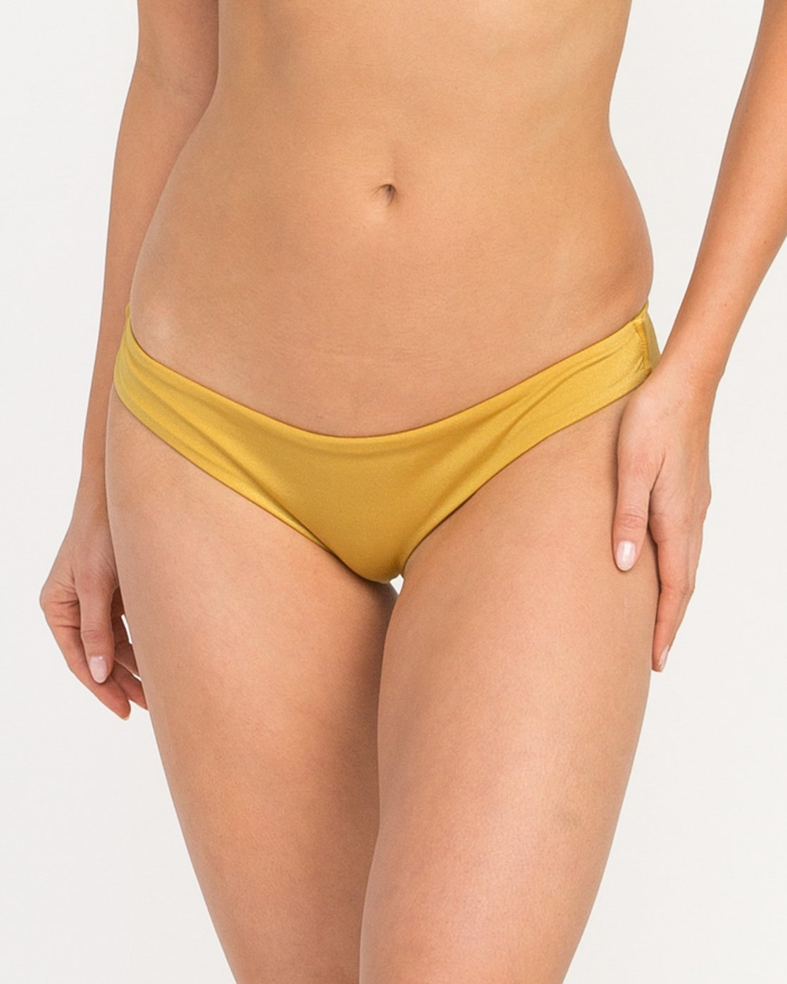 3 Solid Shimmer Cheeky Bikini Bottoms Multicolor XB20QRSC RVCA