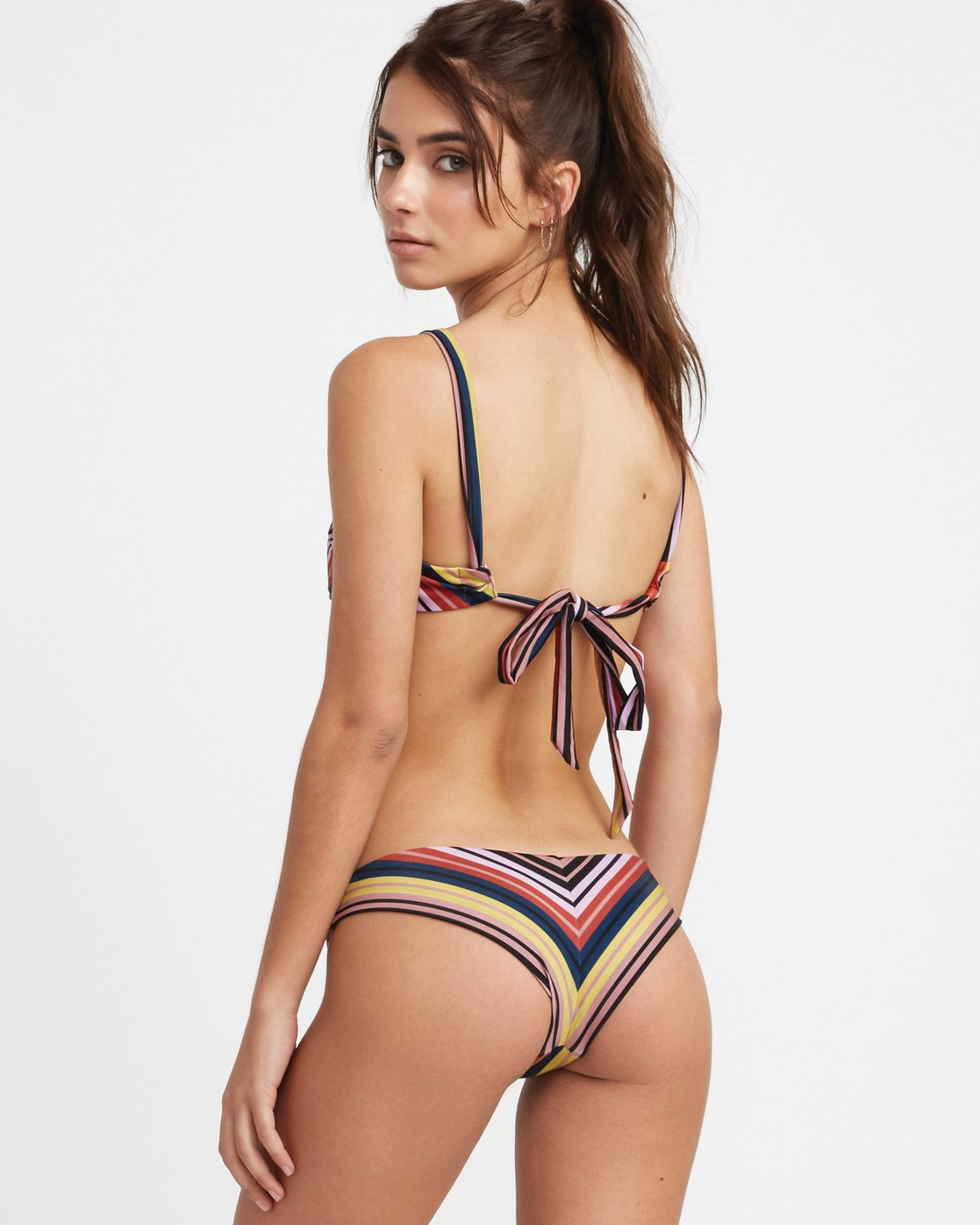 0 Talum Striped Cheeky Bikini Bottoms Red XB23TRTC RVCA