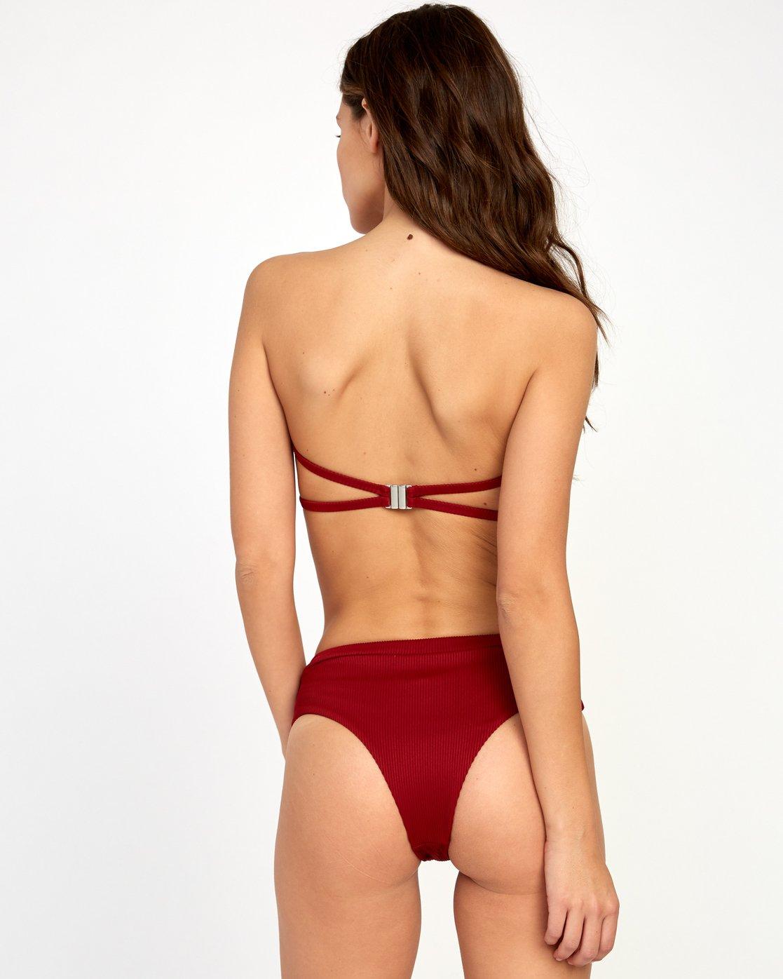 0 Fade Out High Rise Bikini Bottoms Red XB25VRFH RVCA