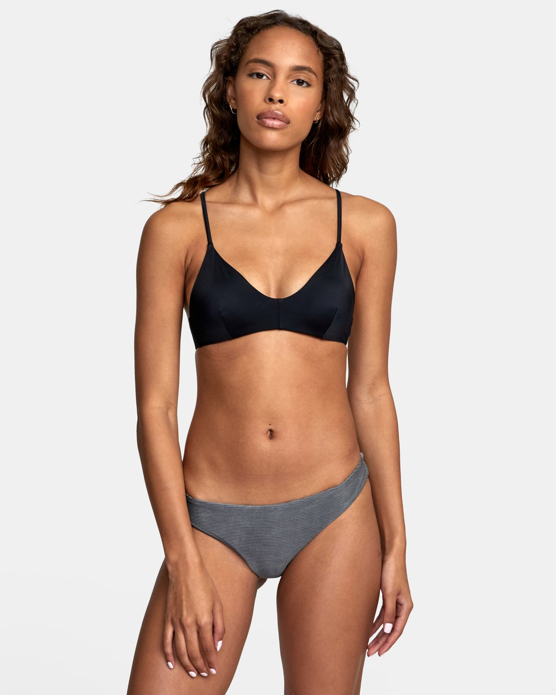 2 SALT WASH CHEEKY BIKINI BOTTOMS Black XB411RSC RVCA