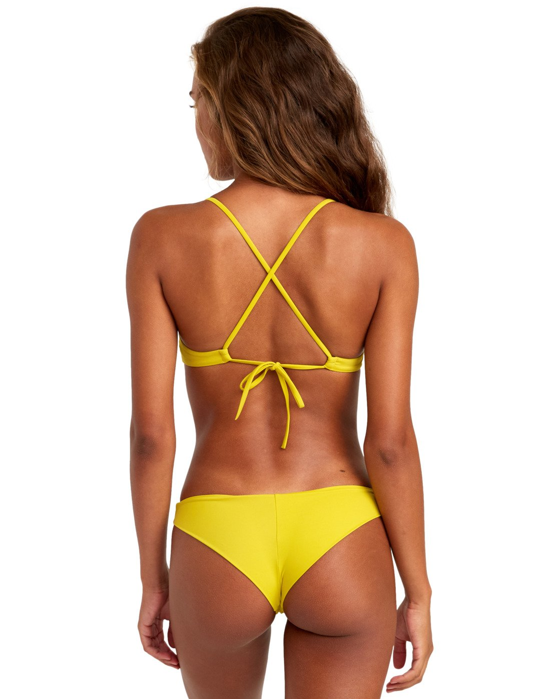 3 SOLID CHEEKY BIKINI BOTTOMS Orange XB431RSC RVCA