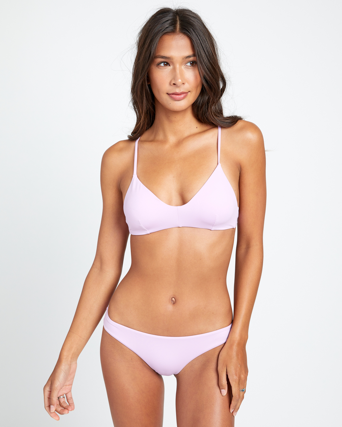 3 SOLID CHEEKY BIKINI BOTTOMS Purple XB431RSC RVCA