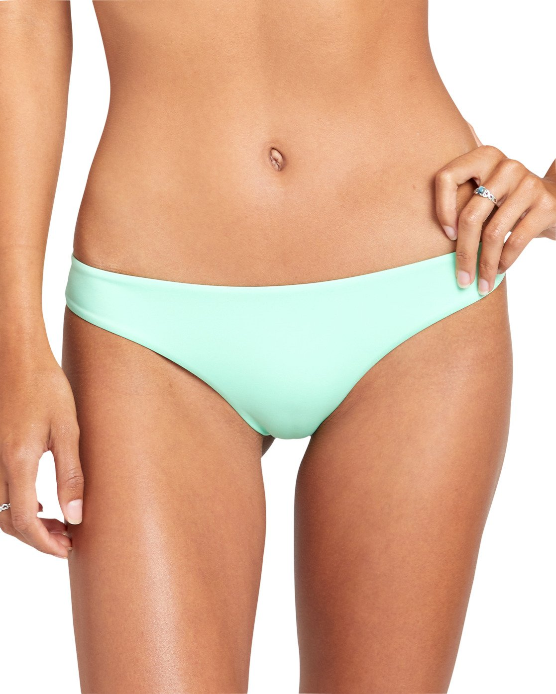 3 SOLID CHEEKY BIKINI BOTTOMS Green XB431RSC RVCA