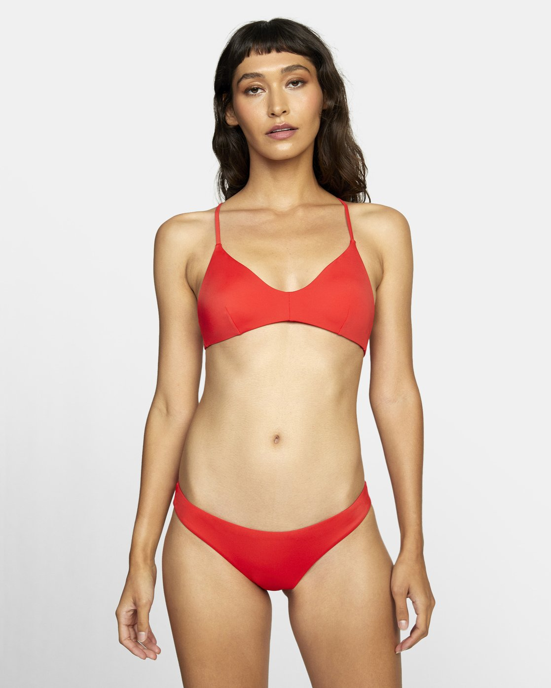 1 SOLID CHEEKY BIKINI BOTTOMS Red XB431RSC RVCA