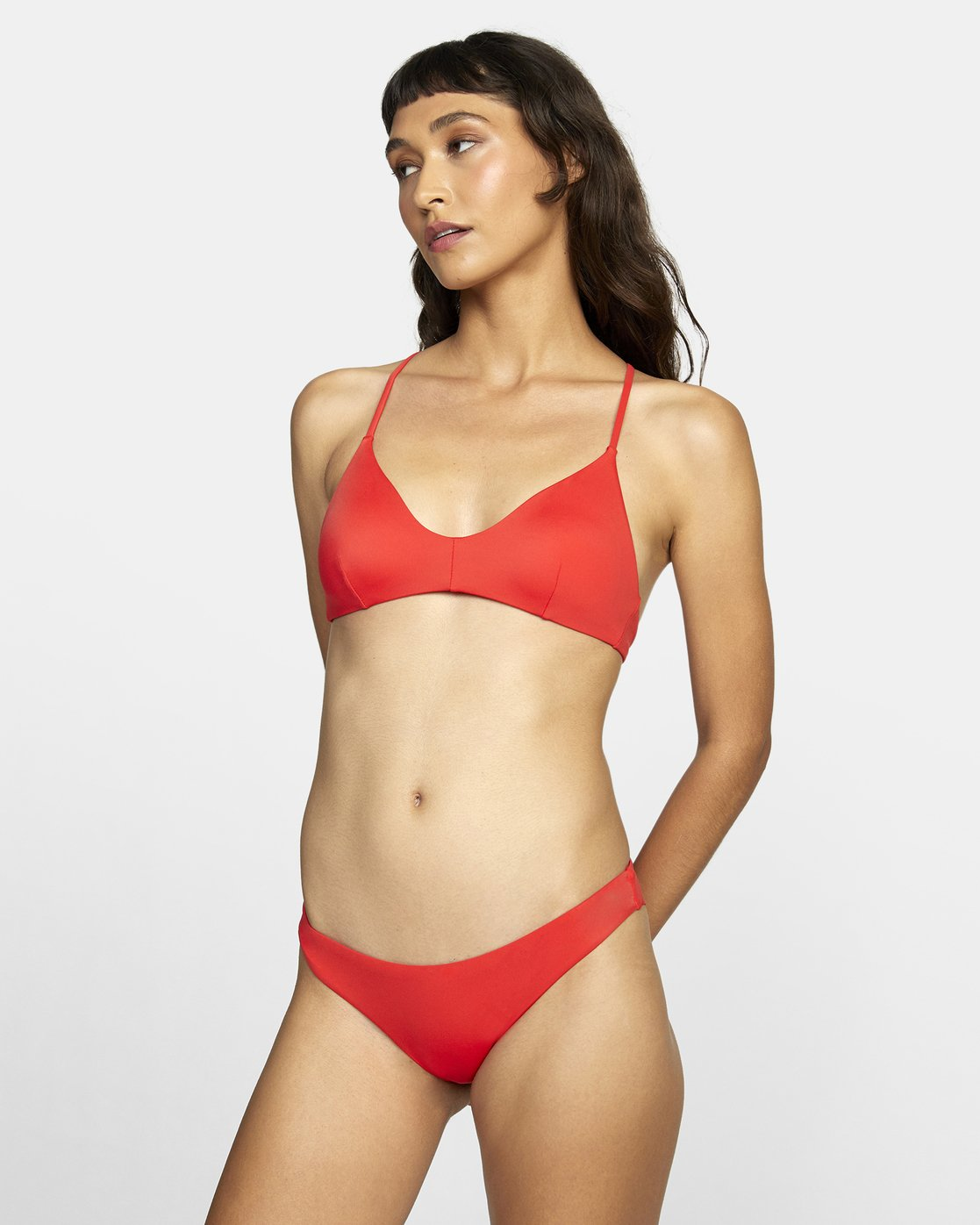 2 SOLID CHEEKY BIKINI BOTTOMS Red XB431RSC RVCA