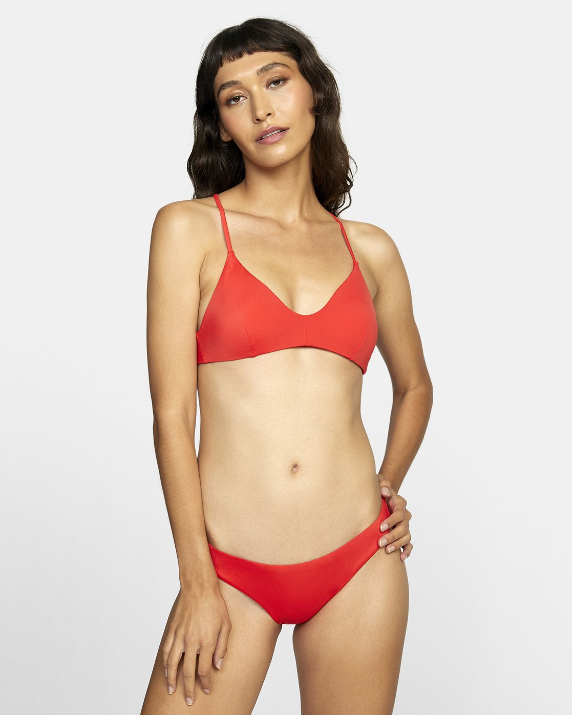 3 SOLID CHEEKY BIKINI BOTTOMS Red XB431RSC RVCA
