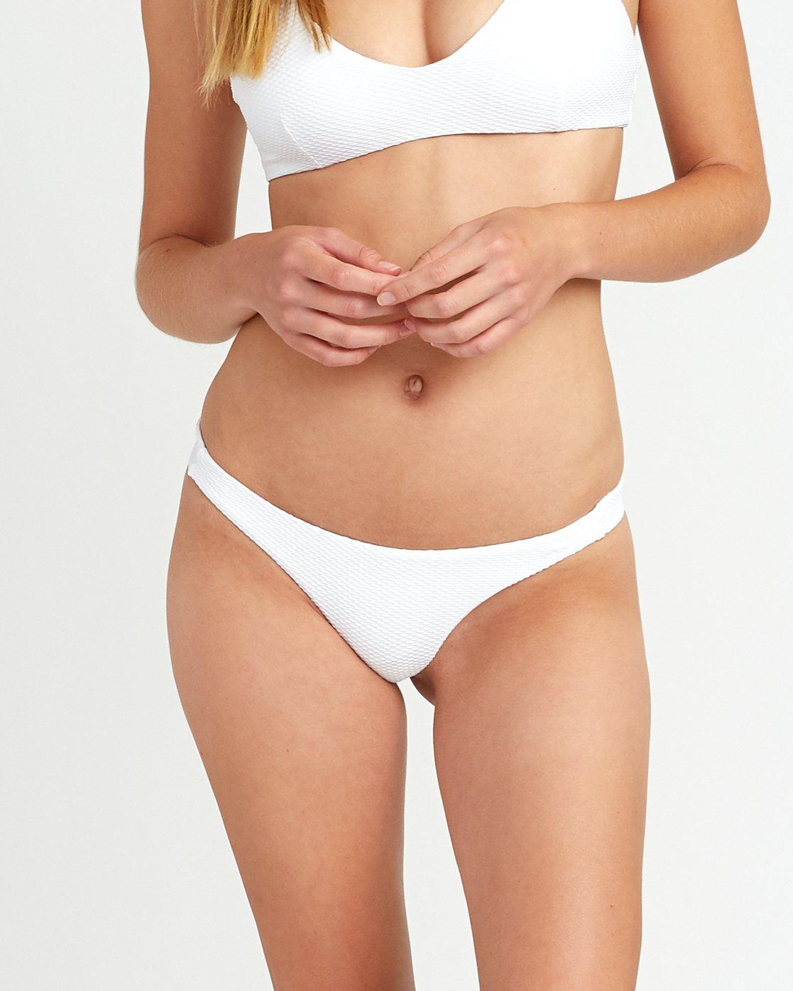 3 White Noise Skimpy Bikini Bottom White XB51URWS RVCA