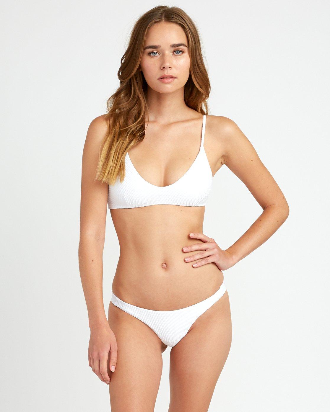 2 White Noise Skimpy Bikini Bottom White XB51URWS RVCA