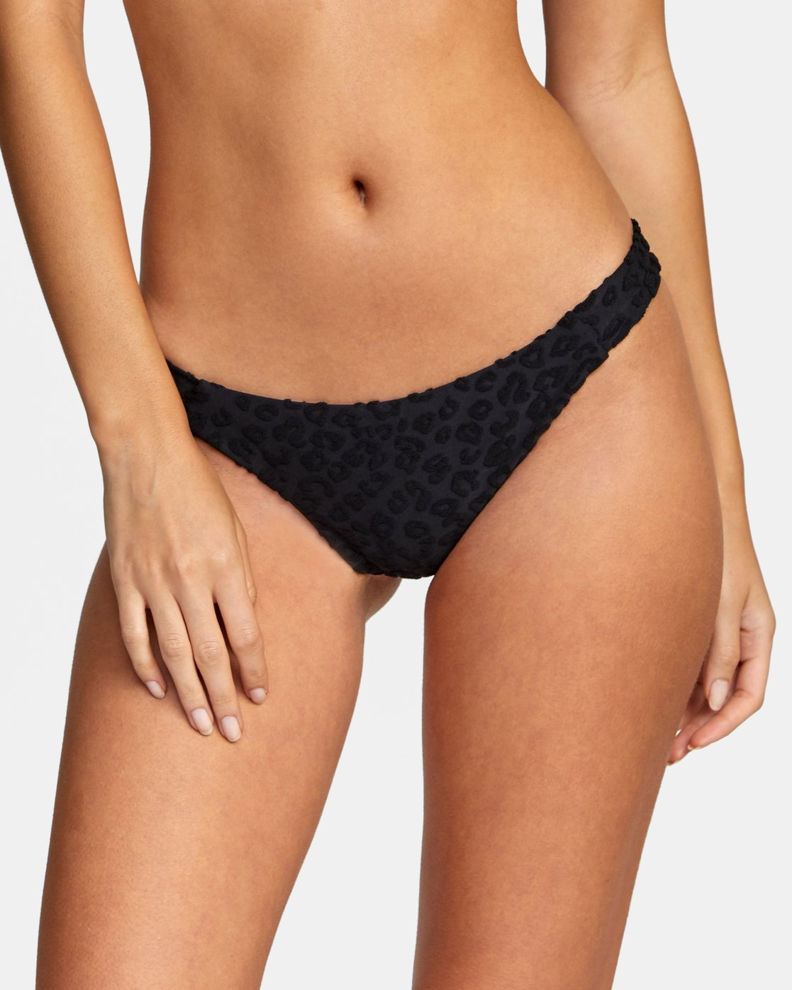 3 WoWild Medium Bikini Bottom Black XB542RWM RVCA