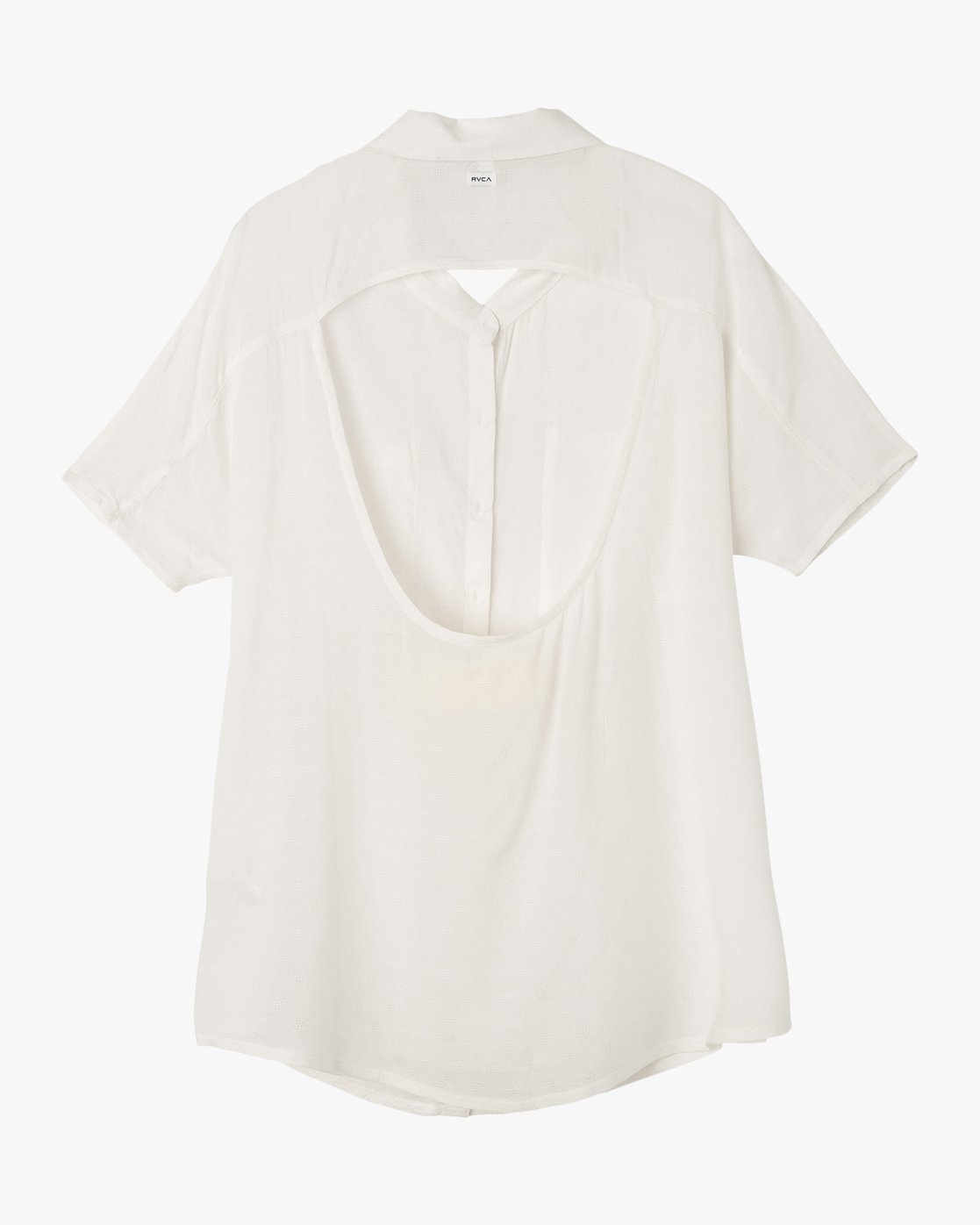 6 Shelton Button-Up Shirt Dress White XC01NRSH RVCA