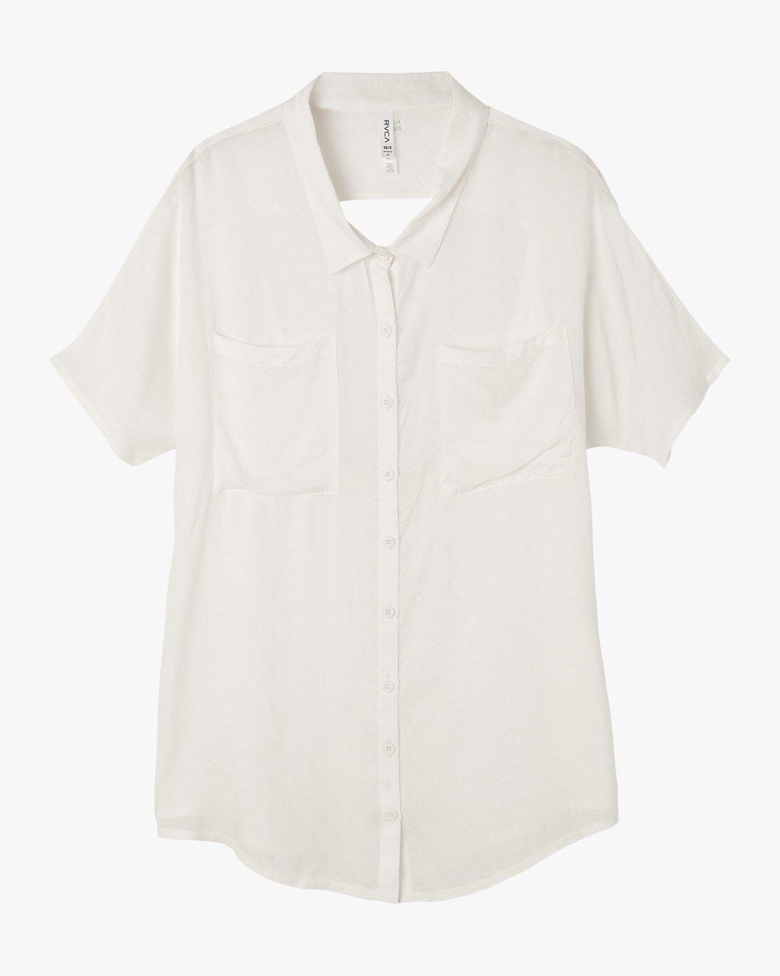 5 Shelton Button-Up Shirt Dress White XC01NRSH RVCA