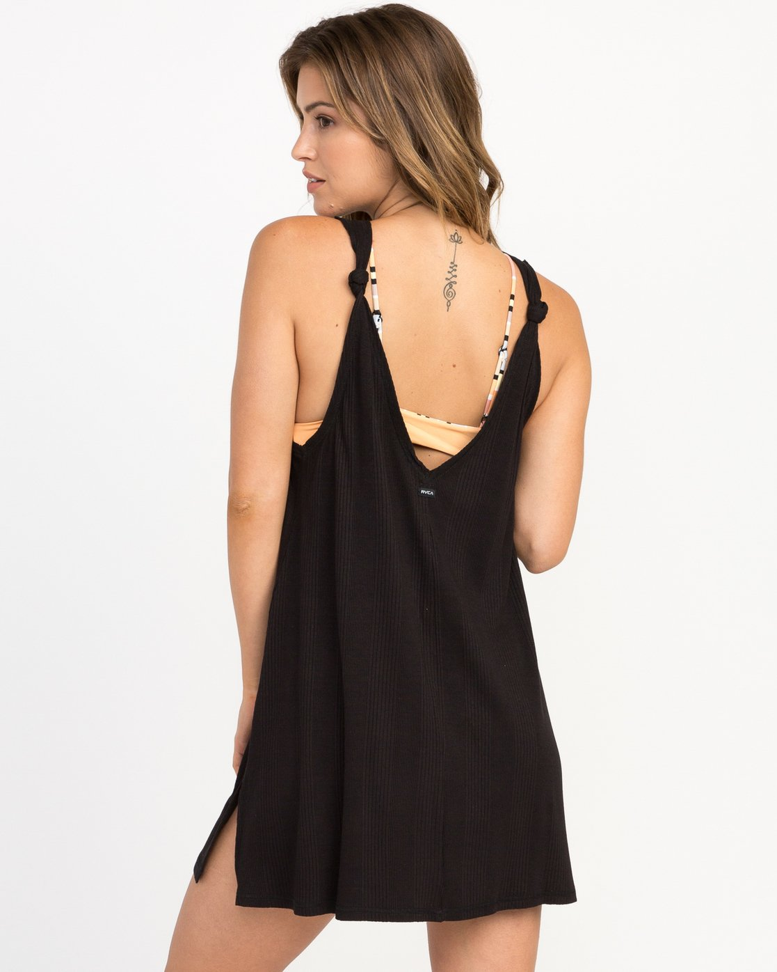 2 Leela Ribbed Cover-Up Dress  XC03PRLE RVCA