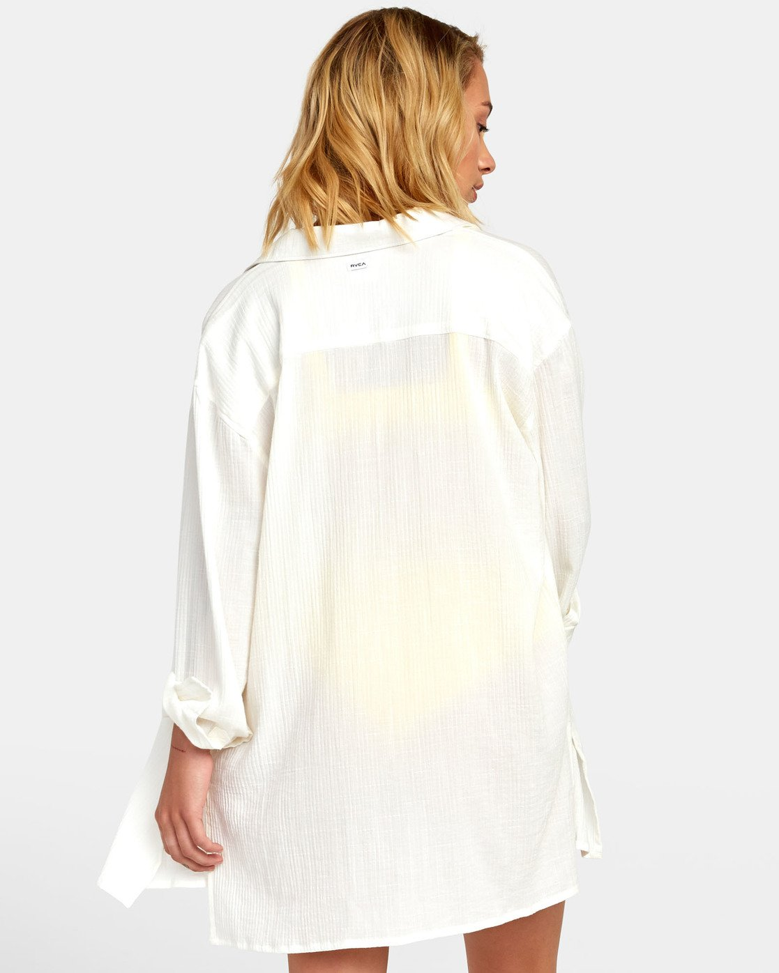 2 SUNDANCE OVERSIZED SHIRT DRESS White XC051RSU RVCA
