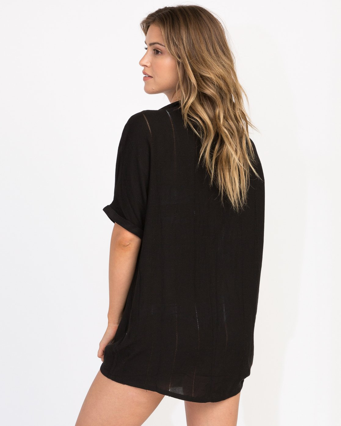 2 And Then Tunic Shirt Dress Black XC05PRAN RVCA